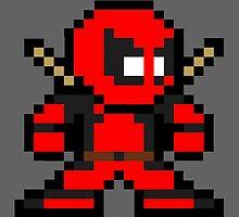 Deadpool Pixel Art by NBeela