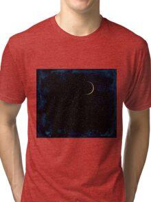 Crescent Moon On A Starry Night  Tri-blend T-Shirt