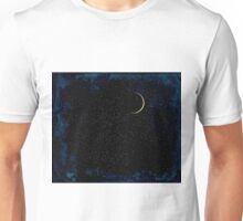 Crescent Moon On A Starry Night  Unisex T-Shirt