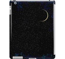 Crescent Moon On A Starry Night  iPad Case/Skin