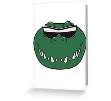 Crocodile face cool sunglasses Greeting Card