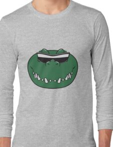 Crocodile face cool sunglasses Long Sleeve T-Shirt