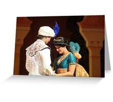 Aladdin's final performance Greeting Card