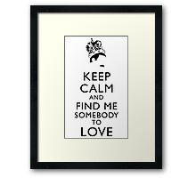 Freddie Mercury Keep Calm Framed Print