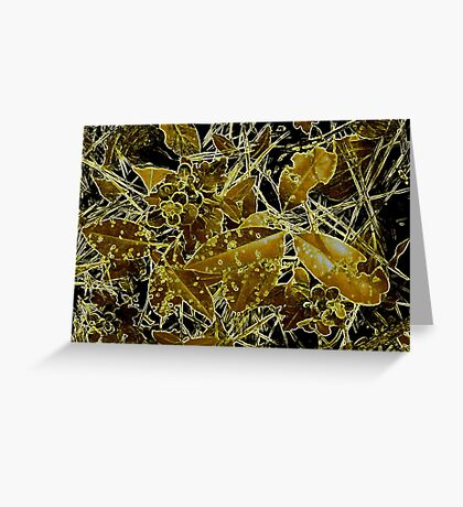 It's The Gold Standard In Bug Altered Leaf Design  Greeting Card
