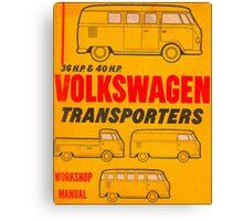 Volkswagen Kombi Workshop Manual Print Canvas Print