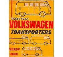 Volkswagen Kombi Workshop Manual Print Photographic Print