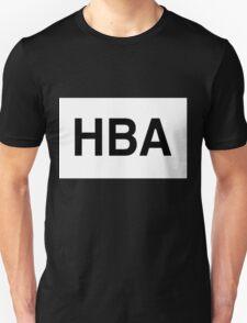 HBA Black on White Unisex T-Shirt