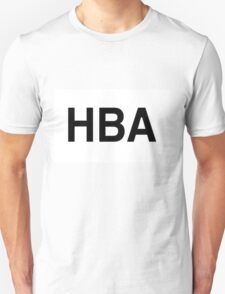 HBA Black on White Unisex T-Shirt