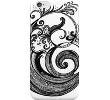The Letter 'E', black ink drawing iPhone Case/Skin