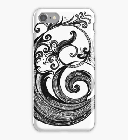 The Letter E, Ink Drawing iPhone Case/Skin