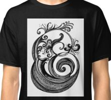 The Letter 'E', black ink drawing Classic T-Shirt