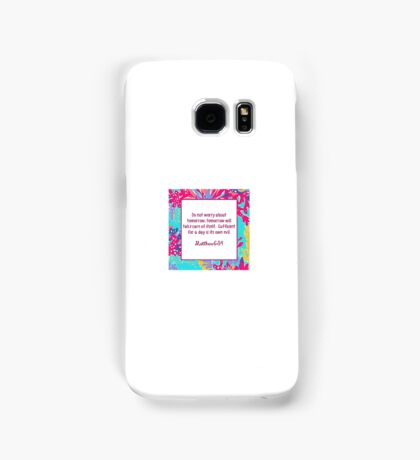 Matthew ; Lilly Bible Quote Samsung Galaxy Case/Skin