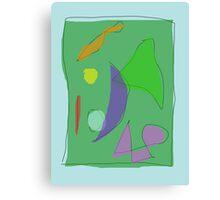 Green Farm Purple Moon Canvas Print