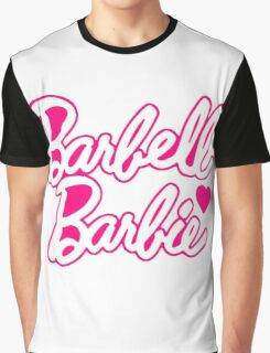 "Funny Quote ""Barbell Beauty"" Graphic T-Shirt"