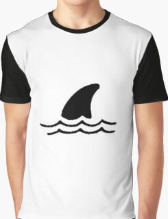 Shark in water Graphic T-Shirt