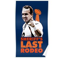 Sheriff's Last Rodeo Poster