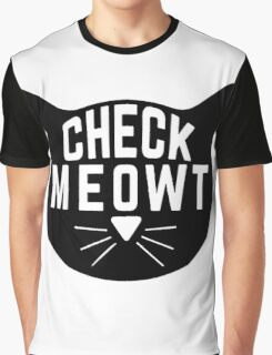 "Funny Quote ""Check Meowt"" Graphic T-Shirt"