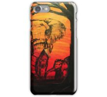 Elephant mom and baby iPhone Case/Skin