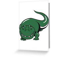 Crocodile dangerous cool Greeting Card