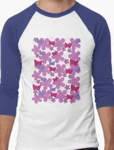 Spring Butterflies | Pink Men's Baseball ¾ T-Shirt