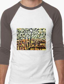 Wild Suburban Sidewalk Forest Men's Baseball ¾ T-Shirt
