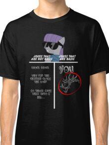Basic of Jokes (WHITE TEXT) Classic T-Shirt