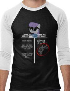 Basic of Jokes (WHITE TEXT) Men's Baseball ¾ T-Shirt