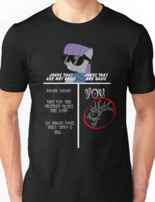 Basic of Jokes (WHITE TEXT) Unisex T-Shirt