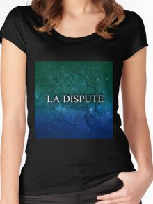 La Dispute Teal Space logo Women's Fitted Scoop T-Shirt