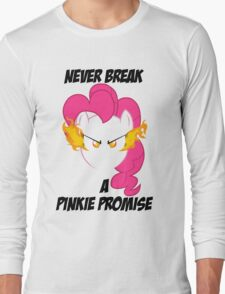 Never Break a Pinkie Promise (BLACK TEXT) Long Sleeve T-Shirt
