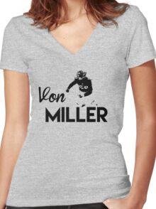 Von Miller Women's Fitted V-Neck T-Shirt