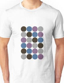 Spotty Checks | Brown/pink/blue  Unisex T-Shirt