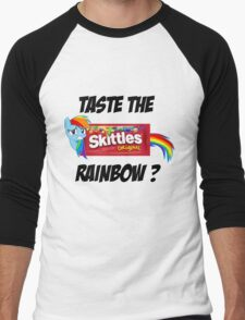 Taste The Rainbow? (BLACK TEXT) Men's Baseball ¾ T-Shirt
