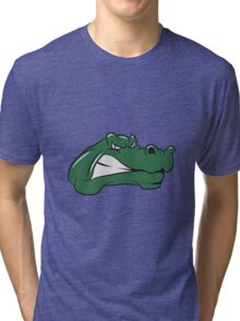 Crocodile dangerous wicked cool Tri-blend T-Shirt