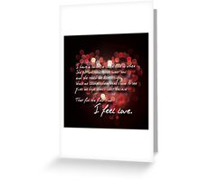 u2 The first time Greeting Card