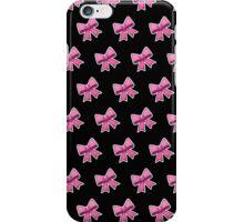 Bow Emoji Pattern Black iPhone Case/Skin