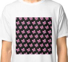 Bow Emoji Pattern Black Classic T-Shirt