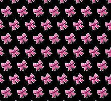 Bow Emoji Pattern Black by Lucy Lier