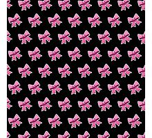 Bow Emoji Pattern Black Photographic Print