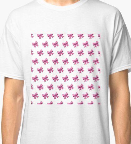 Bow Emoji Pattern White Classic T-Shirt