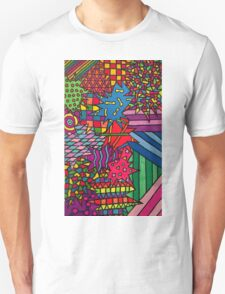 Trippy Neon Design Thingy T-Shirt
