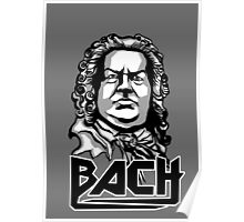 Metal Bach (black, white & grey) Poster