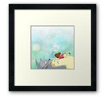 Totoro & Mei Framed Print
