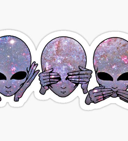 hear no, see no, speak no Sticker