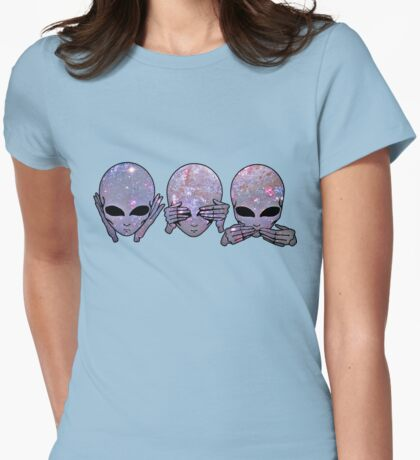 hear no, see no, speak no Womens Fitted T-Shirt