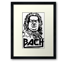 Metal Bach (black) Framed Print