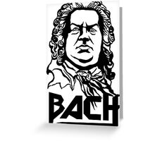 Metal Bach (black) Greeting Card