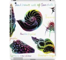 Hand drawn set of vintage seashells illustrations.  iPad Case/Skin