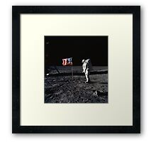 Apollo 11 Photograph on the Moon Framed Print